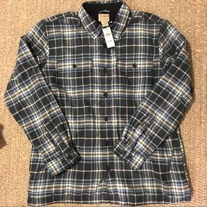 Fleece Lined Flannel Button Down